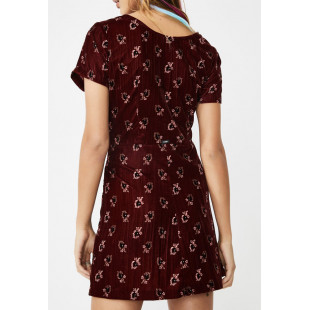 Obey Rouge Dress | Ox Blood