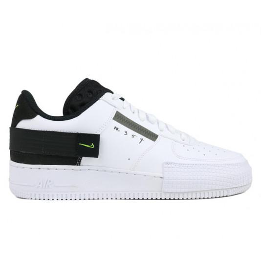 Nike AF1-Type|White/Volt-Black-White