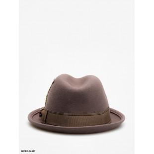 Brixton Hat Gain Fedora Grey