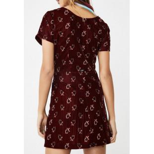 Obey Rouge Dress | Ox Blood