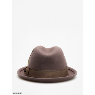 Brixton Hat Gain Fedora|Grey
