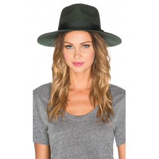 Brixton Fedora Hunter|Green