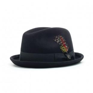 Brixton Gain Fedora Hat|Black